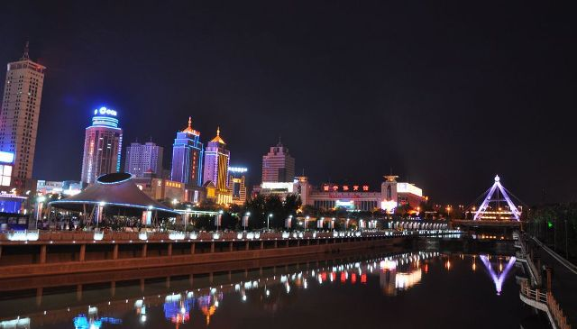 Night view of Xining